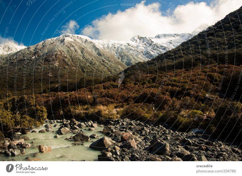New Zealand 92 Himmel Natur Ferien & Urlaub & Reisen ruhig Wald Berge u. Gebirge Landschaft Umwelt Insel Urelemente außergewöhnlich Alpen Reisefotografie Gipfel Schönes Wetter Neuseeland