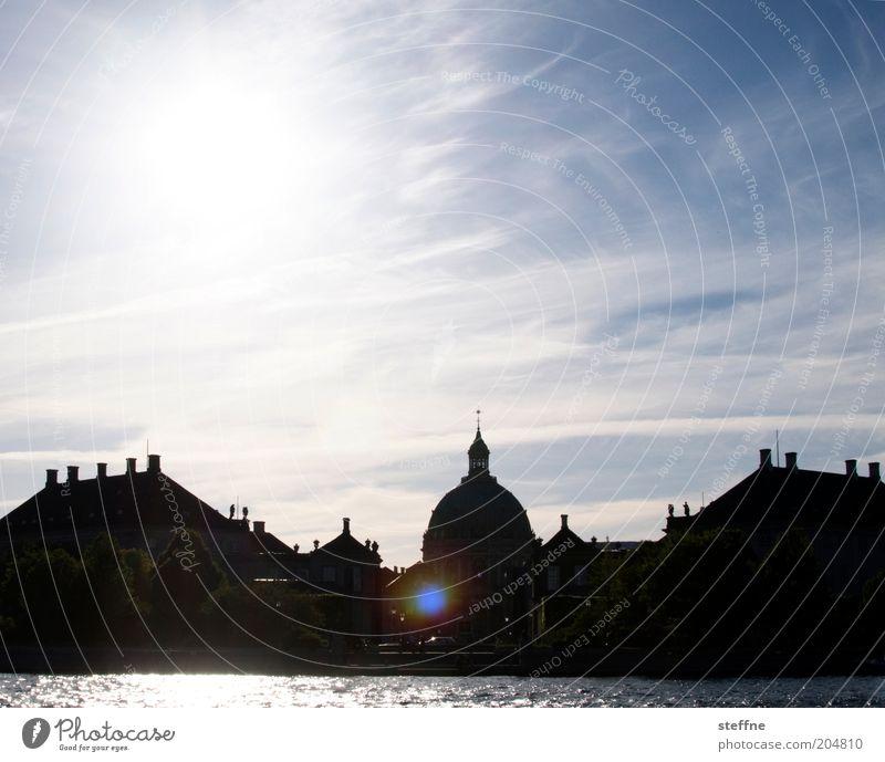 Marmorkirken Himmel Meer Haus Kirche Burg oder Schloss historisch Schönes Wetter Dom Dänemark Altstadt Kopenhagen Hafenstadt