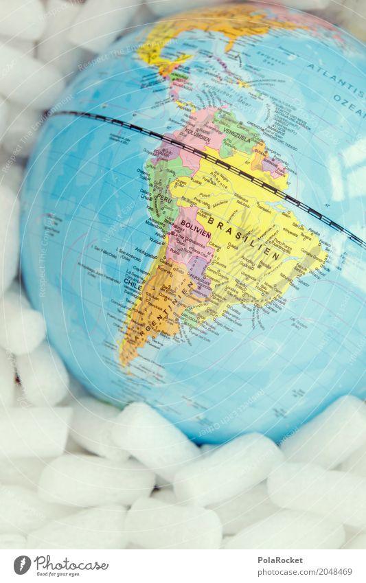 #AS# Verpackte Welt II Ferien & Urlaub & Reisen Reisefotografie Kunst Erde ästhetisch Sicherheit Fernweh Globus Klimawandel verpackt Brasilien Südamerika reisend einpacken Reisevorbereitung Klimaschutz