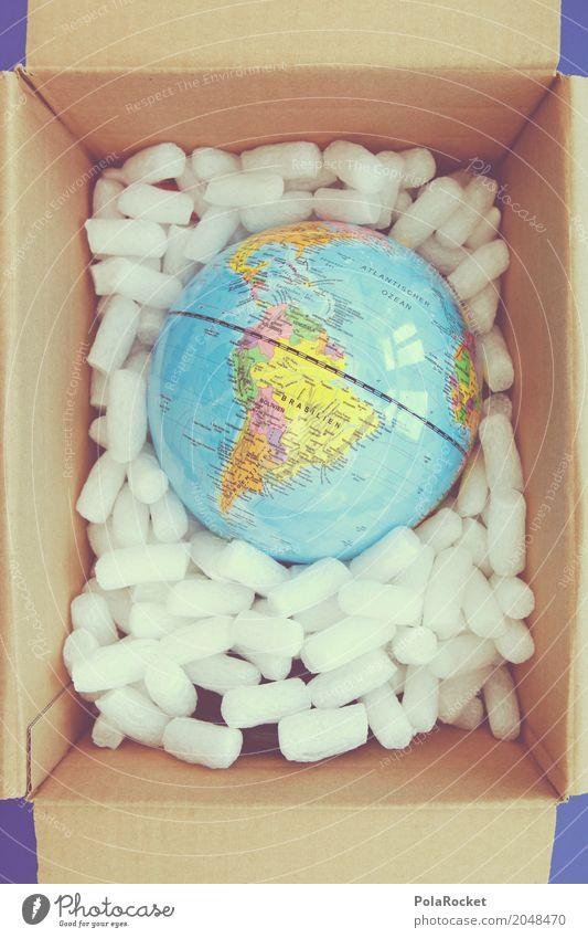 #AS# Earth In A Box Kunst Erde Erde ästhetisch Zukunft Futurismus Globus Verpackung Planet Paket Brasilien Südamerika Versand liefern verringern