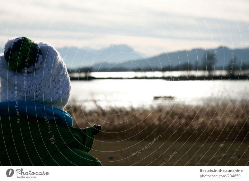 Tief durchatmen.(Entspannung light zur Mittagspause) harmonisch Wohlgefühl Zufriedenheit Erholung ruhig Freizeit & Hobby Winter Berge u. Gebirge Kopf Seeufer