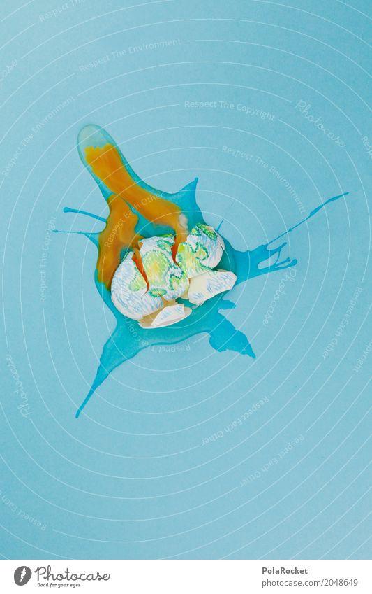 #A# fuck Kunst Kunstwerk ästhetisch Ei gebrochen kaputt Zerstörung Eigelb auslaufen Erde Weltkarte Weltmeisterschaft Klima Klimawandel Klimaschutz Tod Farbfoto
