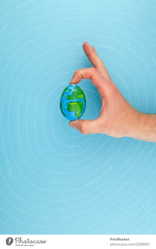 #AS# The Whole Egg In His... Hand Kunst Erde Design ästhetisch Kreativität Idee festhalten Ei Globus Planet Weltkarte Weltkulturerbe Weltreise weltweit Ei