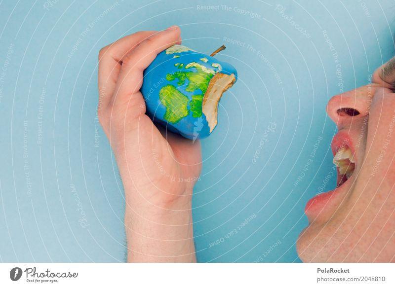 #AS# Angefressene Welt Mensch Umwelt Kunst Erde ästhetisch Zukunft Klima bedrohlich Zukunftsangst Apfel Umweltschutz Fressen Kunstwerk Klimawandel Planet beißen