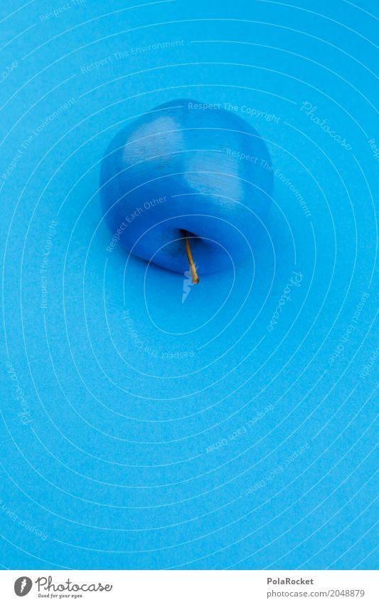 #A# Apfelunfall Blau Kunst Kunstwerk ästhetisch blau Blauton Apfelschale Kreativität Design blaustich gestalten Frucht außergewöhnlich Eyecatcher unnatürlich