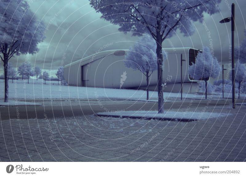 Nach der EXPO 2000 weiß ruhig grau Gebäude Metall Architektur Design Ausflug ästhetisch Sauberkeit Container Ausstellung Futurismus Sehenswürdigkeit