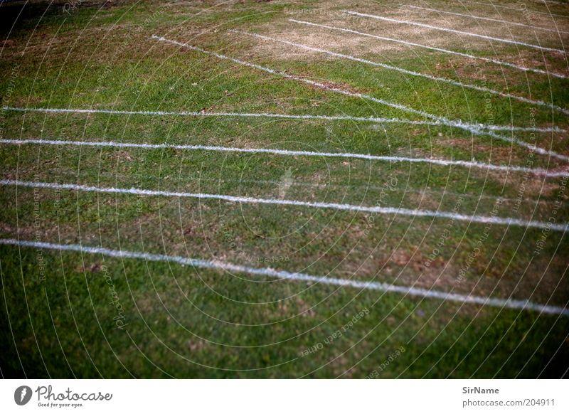 131 [ein-aus-lauf Bahn] Sport Leichtathletik Rennsport Laufsport Sportstätten Sportveranstaltung Rennbahn Gras Schilder & Markierungen Symmetrie Laufbahn
