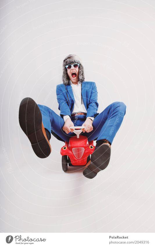 #AS# Out Of Your Mind! Lifestyle elegant Stil Design exotisch Freude Freizeit & Hobby Zufriedenheit Kindheit Bobbycar dumm verrückt Mann Clown Geschwindigkeit