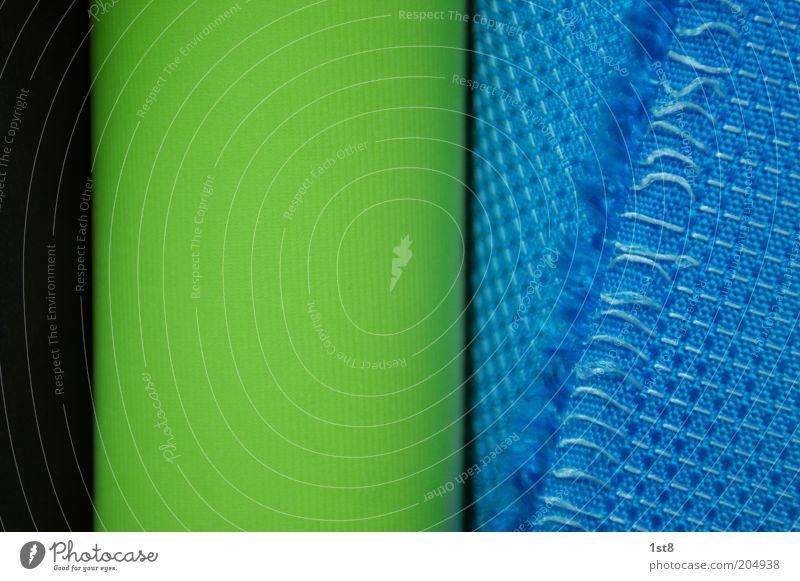 -wa-ka-ki-sa- grün blau schwarz modern ästhetisch neu Stoff trendy Rolle Baumwolle Franse