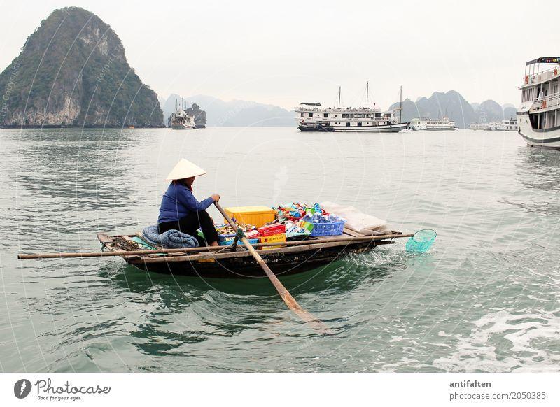 Risiko | Bootsverkauf in Vietnam Lebensmittel Getränk Erfrischungsgetränk kaufen Ferien & Urlaub & Reisen Tourismus Abenteuer Sightseeing Kreuzfahrt