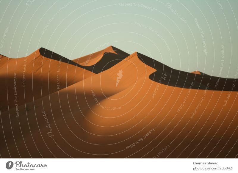Himmel Natur Ferien & Urlaub & Reisen Umwelt Landschaft Wärme Sand Ausflug Tourismus Wüste Schönes Wetter Düne Afrika Marokko Sonnenuntergang Sonnenaufgang