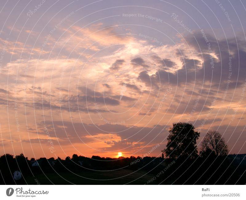 Sonnenuntergang Himmel Wolken