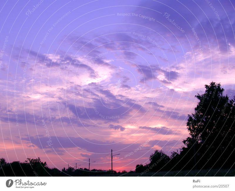 Dämmerung Himmel Wolken Farbe