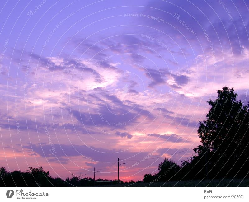 Dämmerung Sonnenuntergang Wolken Himmel Farbe Abend