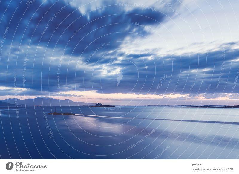 Was auch passiert Sommerurlaub Strand Himmel Wolken Sonnenaufgang Sonnenuntergang Schönes Wetter Küste Insel Republik Irland maritim schön blau rosa ruhig