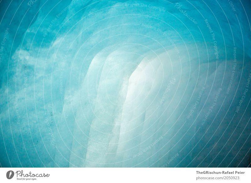 Eisgrotte Natur blau weiß kalt ästhetisch nass türkis durchsichtig Gletscher schimmern