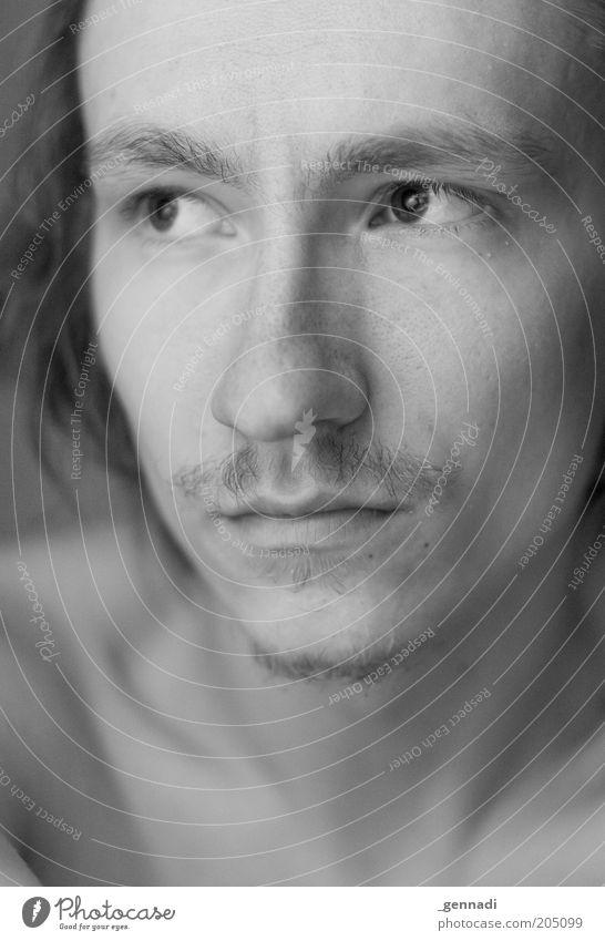 Sich gut fühlen Mensch Mann Jugendliche schön Gesicht Auge Kopf Erwachsene maskulin Nase Lippen authentisch Bart sanft zerbrechlich