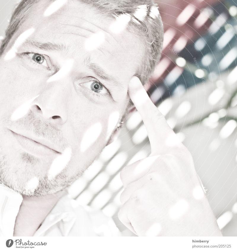think bright Mensch Mann Jugendliche Auge Kopf Haare & Frisuren Erwachsene Denken Arbeit & Erwerbstätigkeit blond maskulin Studium Bildung Student Beruf Erwachsenenbildung