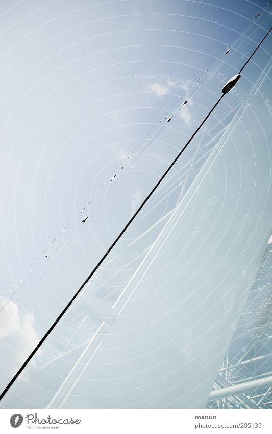 Glashaus Haus Bauwerk Gebäude Architektur Fassade Sehenswürdigkeit Stahl modern ästhetisch elegant Verglasung Sicherheitsglas Farbfoto Hintergrund neutral