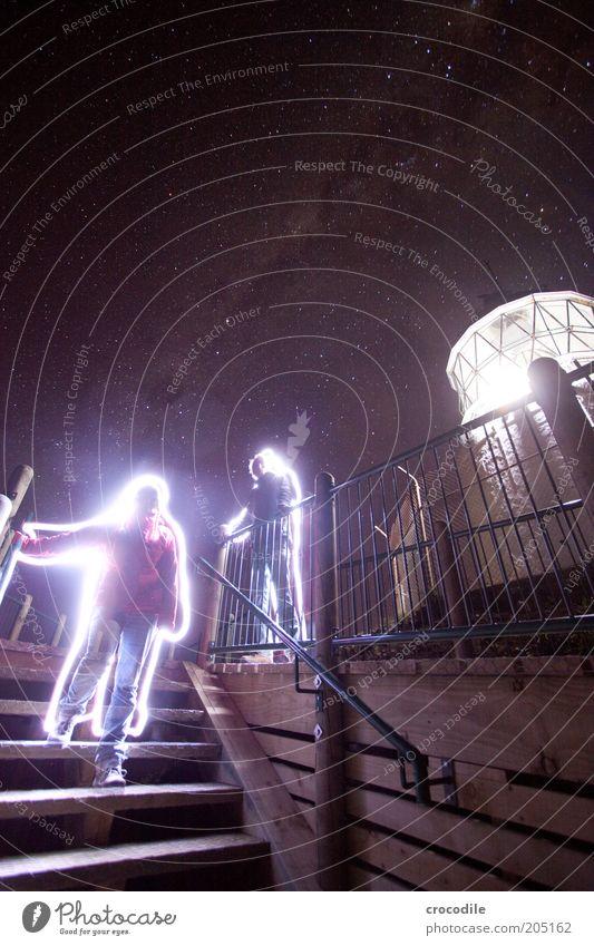 New Zealand 114 Mensch Natur Erwachsene dunkel Umwelt Stimmung Stern ästhetisch außergewöhnlich leuchten 18-30 Jahre fantastisch bizarr Leuchtturm Langzeitbelichtung Strahlung