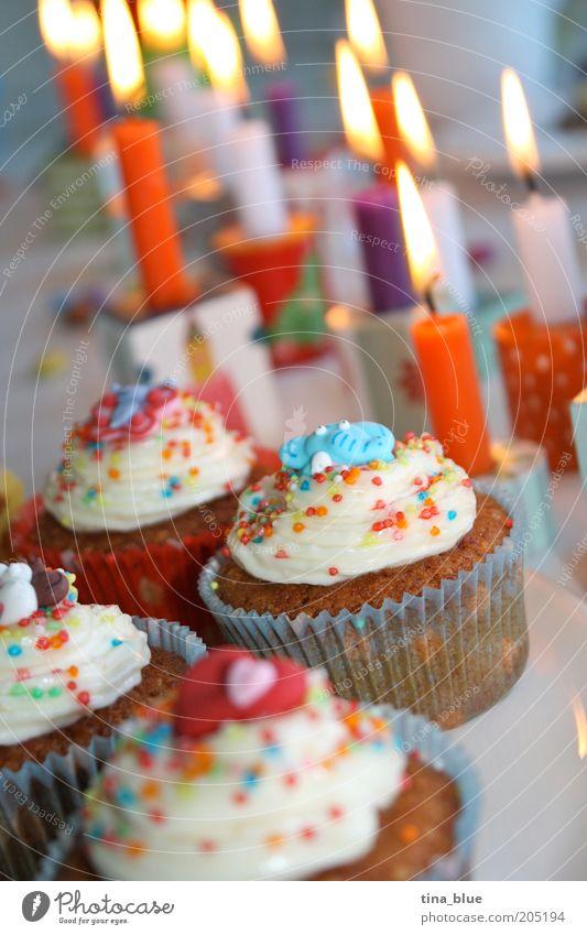 Kindergeburtstag1 alt Freude Glück Feste & Feiern Lebensmittel orange Dekoration & Verzierung Geburtstag Ernährung Herz Lebensfreude Kerze Süßwaren Jubiläum
