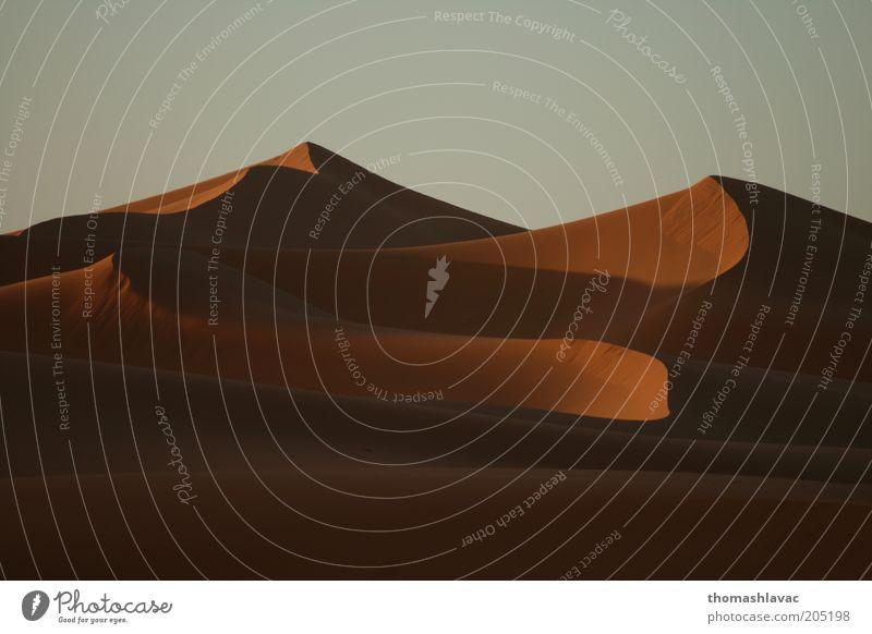Himmel Natur Ferien & Urlaub & Reisen Umwelt Landschaft Sand Wüste Schönes Wetter Düne Dürre Sahara Marokko Afrika