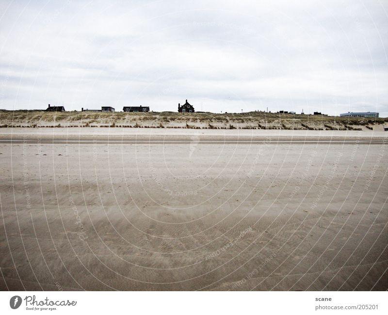 Dutch Beach Sommer Strand Meer Sand Luft Himmel Wolken Küste Nordsee Düne Niederlande Strandhaus blau braun grau weiß Natur Gedeckte Farben Außenaufnahme