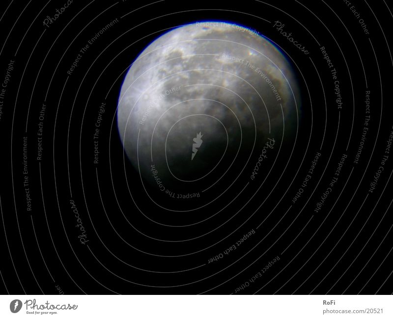 Noch'n bisserl Mondfinsternis Himmel Himmelskörper & Weltall Astronomie Vulkankrater