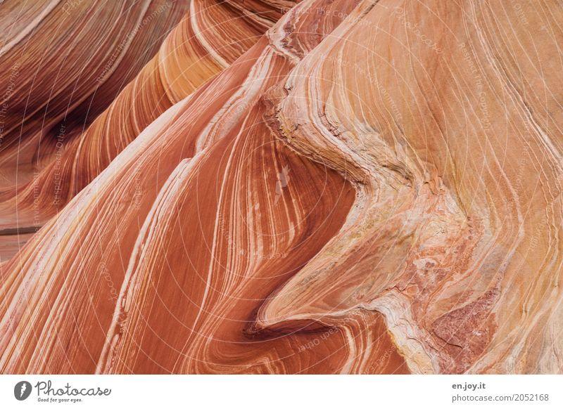 drunter und drüber | Schichten Natur Ferien & Urlaub & Reisen Landschaft Bewegung Zeit außergewöhnlich orange Felsen Linie Kraft USA fantastisch Energie Klima