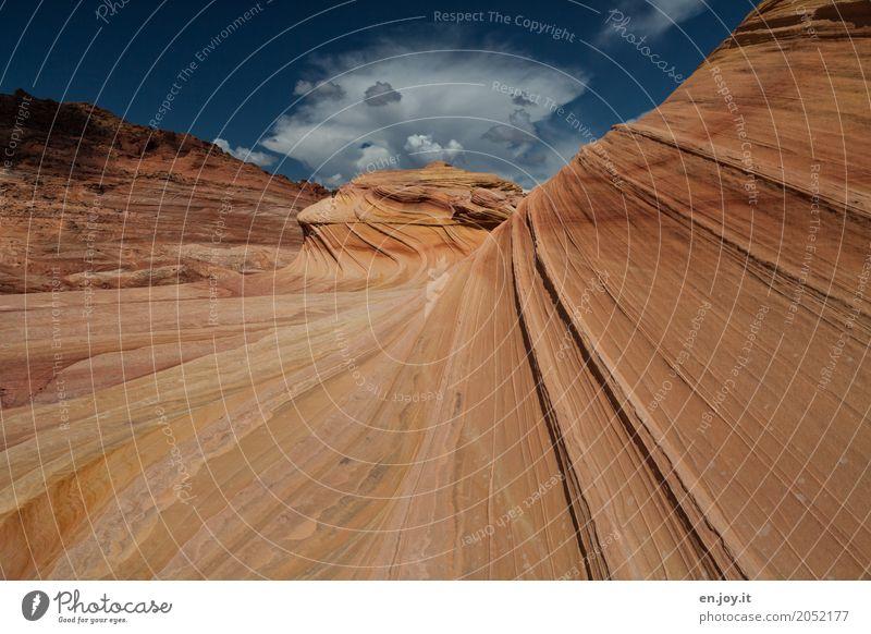 Naturkräfte Landschaft Felsen Schlucht Wüste außergewöhnlich orange bizarr einzigartig Klima Ferien & Urlaub & Reisen Surrealismus Vergänglichkeit Coyote Buttes