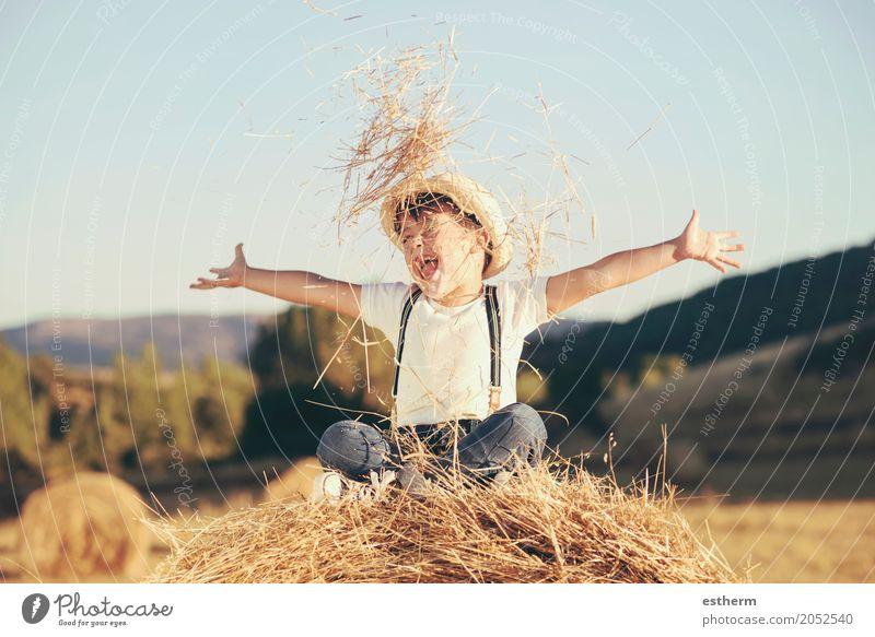 Mensch Kind Ferien & Urlaub & Reisen Freude Lifestyle Gefühle Junge lachen Glück Stimmung maskulin Kindheit Fröhlichkeit Lächeln genießen Abenteuer