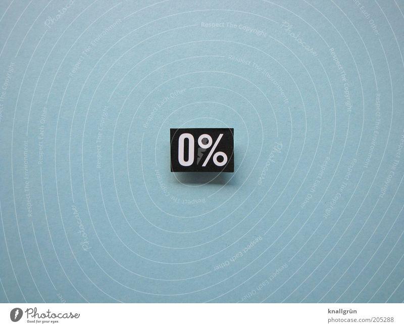 0% Zeichen Ziffern & Zahlen Schilder & Markierungen blau sparsam stagnierend Prozentzeichen Nullrunde leer Mathematik rechnen Farbfoto Gedeckte Farben