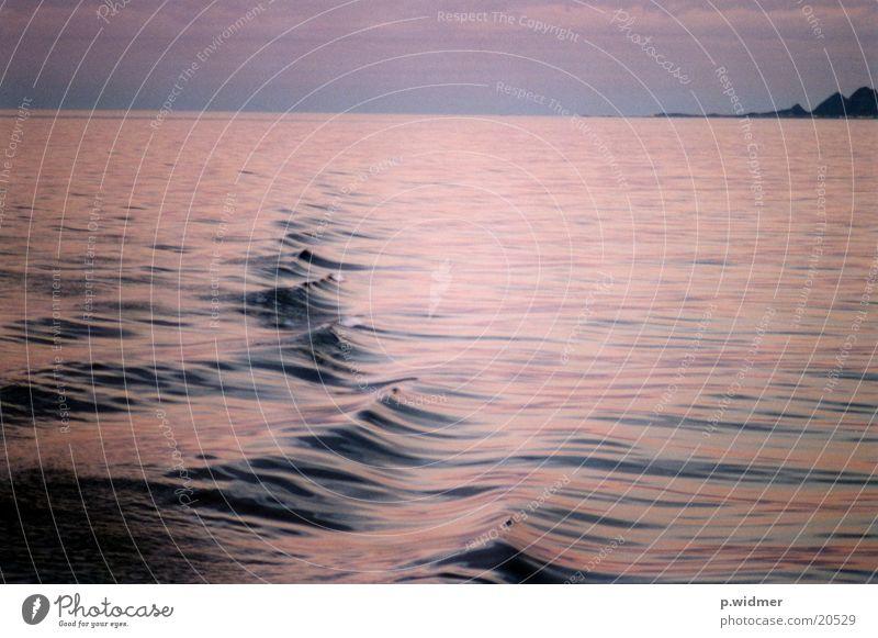 waves Wellen Meer Mitternachtsonne Norden