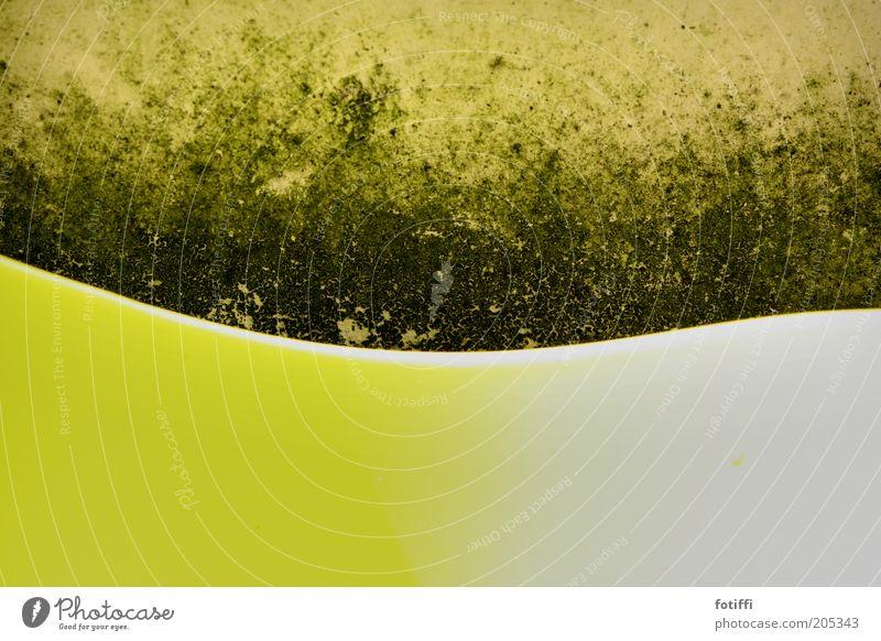 La Ola Welle ;) alt grün Wand Mauer dreckig trist authentisch einfach Moos geschwungen Kontrast wellig