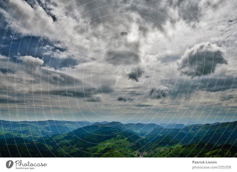 Wolkenschauspiel Natur Himmel Sommer Ferne Berge u. Gebirge Freiheit Landschaft Zufriedenheit Erde Wind Wetter Umwelt Horizont Aussicht