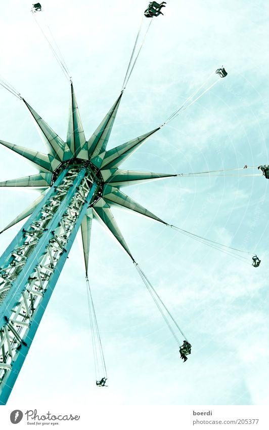 rIngelspiel blau Ferien & Urlaub & Reisen Freude Freiheit Bewegung Freizeit & Hobby hoch Tourismus Aktion Turm Technik & Technologie Bauwerk Unendlichkeit unten