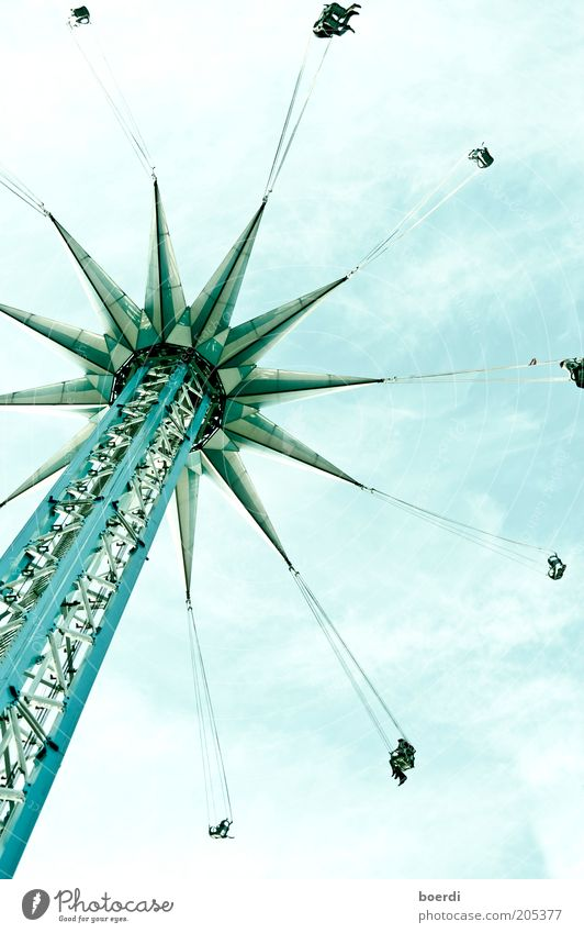 rIngelspiel blau Ferien & Urlaub & Reisen Freude Freiheit Bewegung Freizeit & Hobby hoch Tourismus Aktion Turm Technik & Technologie Bauwerk Unendlichkeit unten Vertrauen drehen
