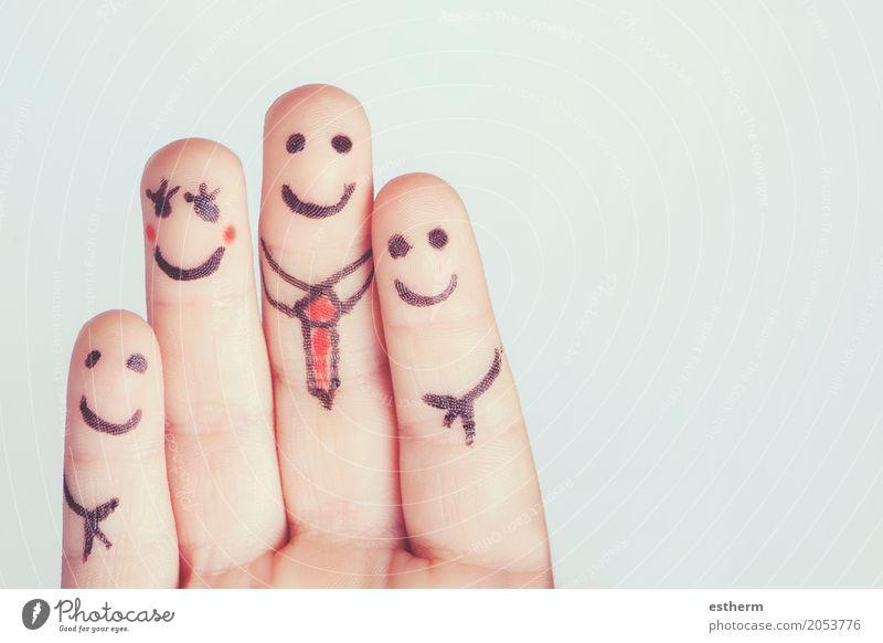 Finger bilden eine glückliche Familie Mensch Kind Frau Mann Freude Mädchen Erwachsene Leben Lifestyle Liebe Gefühle lachen Familie & Verwandtschaft