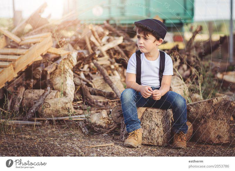 """Trauriges Kind Lifestyle Freiheit Mensch Kleinkind Junge Kindheit 1 3-8 Jahre Frühling Feld Traurigkeit Wut Stimmung Sorge Ärger Frustration Nostalgie """"Herbst"""