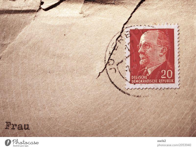 Unbekannt verzogen Männlicher Senior Mann Kopf 1 Mensch 60 und älter Sammlerstück Brief Briefumschlag Briefmarke Poststempel Adressat Papier Schriftzeichen alt
