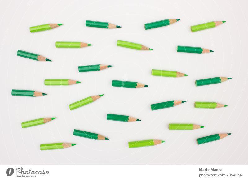 Gemeinsam in die gleiche Richtung Business Team Schreibstift Bewegung Erfolg Zusammensein positiv grün Kraft Einigkeit Fortschritt Konkurrenz Teamwork Ziel