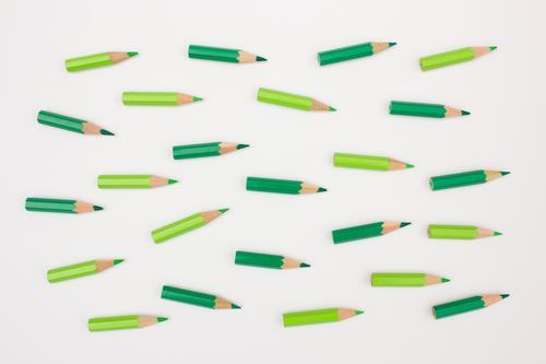 Gemeinsam in die gleiche Richtung grün Bewegung Business Zusammensein Kraft Erfolg Ziel Team Zusammenhalt Teamwork positiv Schreibstift Konkurrenz Fortschritt