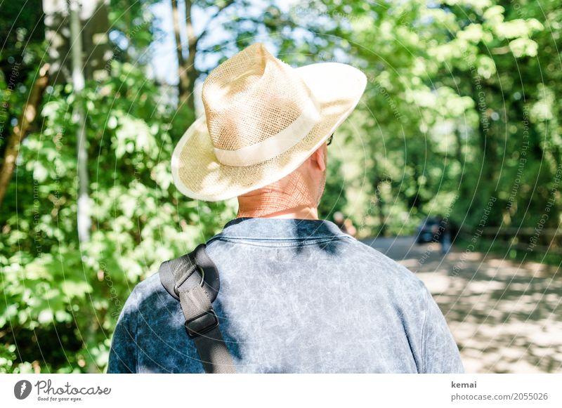 AST10 | Der Mann mit dem Strohhut Mensch Ferien & Urlaub & Reisen Sommer Erholung ruhig Erwachsene Leben Lifestyle Stil Tourismus Ausflug Freizeit & Hobby