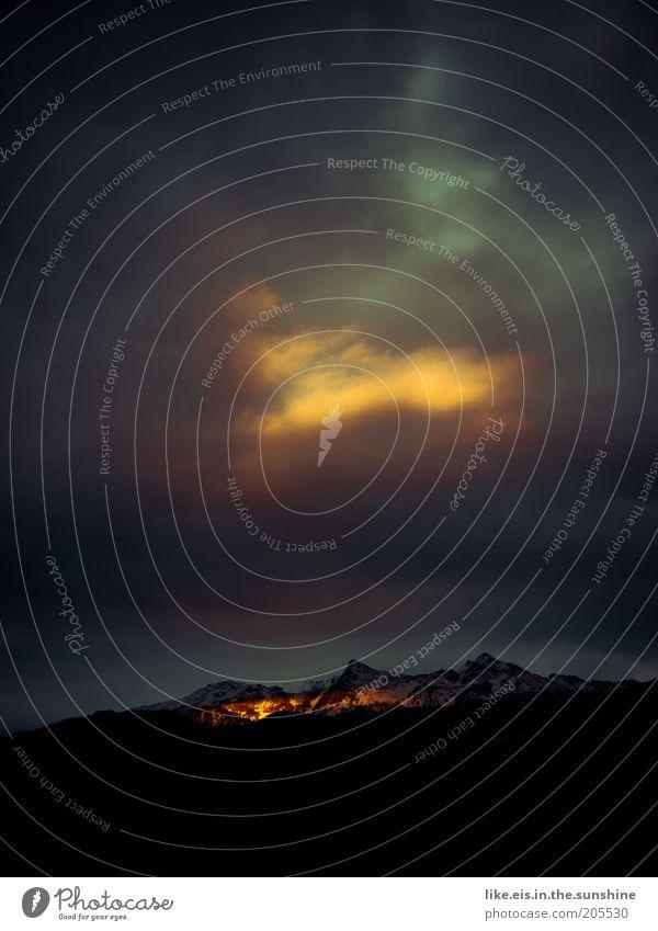 Tor zum Himmel*** Natur schön Sommer Wolken Ferne Freiheit Berge u. Gebirge Landschaft Umwelt Wetter Urelemente Hügel Alpen leuchten Gipfel