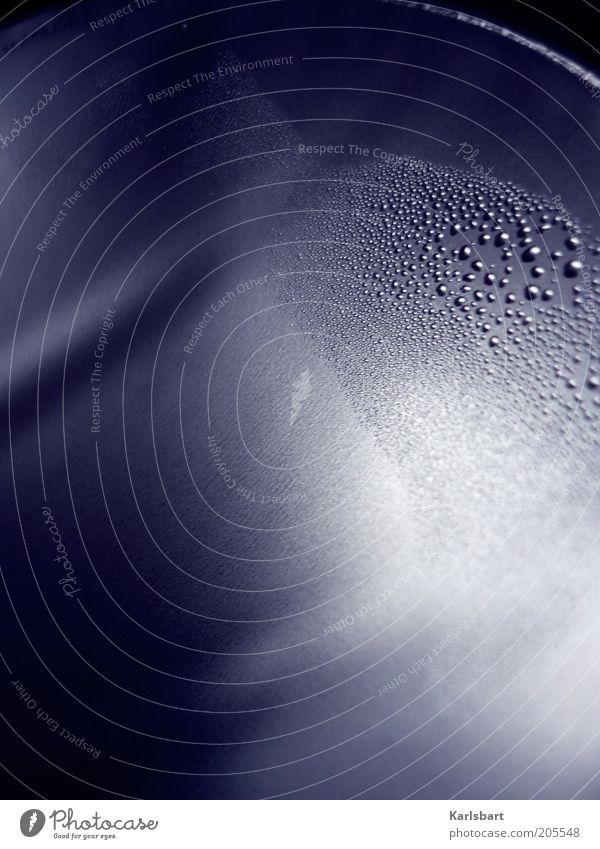 ;:: Design Wasser Wassertropfen Tropfen dunkel Aluminium Tau Strukturen & Formen Punkt rund Farbfoto Innenaufnahme Nahaufnahme Detailaufnahme Experiment