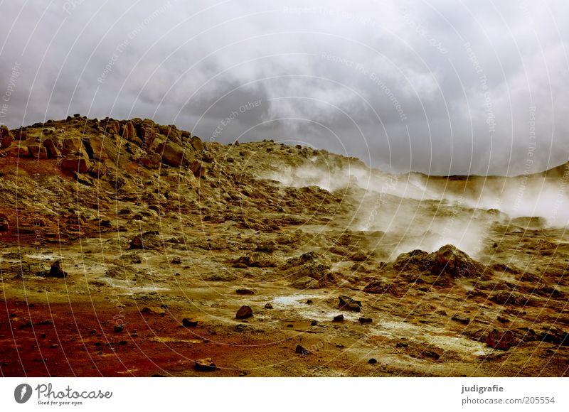 Island Himmel Natur Wolken dunkel Landschaft Umwelt Wärme Erde Stimmung Klima natürlich bedrohlich einzigartig außergewöhnlich Hügel