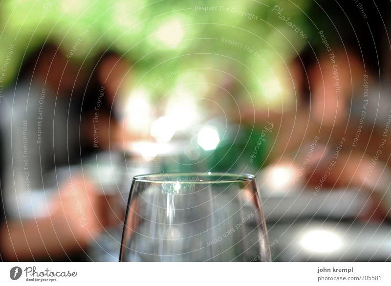 halbleer Mittagessen Abendessen Vesper Wein Alkohol Glas trinken Feste & Feiern Laster Zusammensein Genusssucht genießen Gastronomie Farbfoto Außenaufnahme