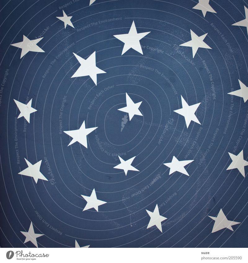 Sternbild blau weiß Graffiti Wand Mauer Freiheit Stil Hintergrundbild Kunst Fassade Lifestyle Design Dekoration & Verzierung Stern (Symbol) Zeichen