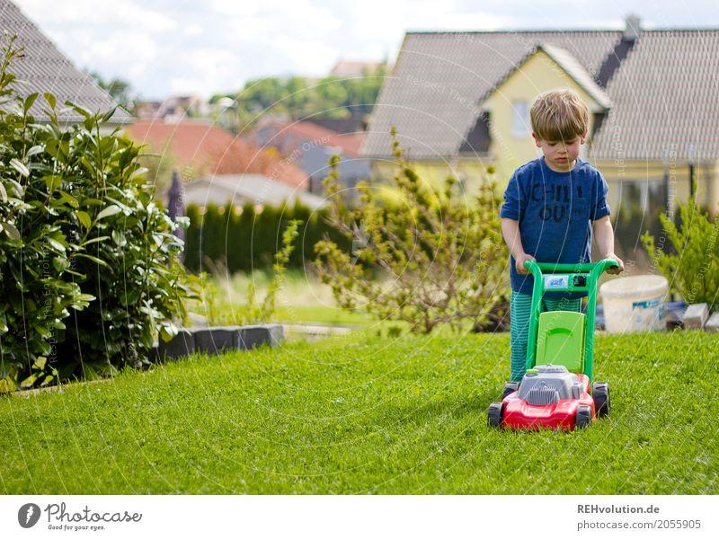 sommer 2017 - rasenmähen Mensch Kind grün Haus Wiese natürlich Gras Junge Spielen Garten Arbeit & Erwerbstätigkeit Häusliches Leben Freizeit & Hobby Kindheit