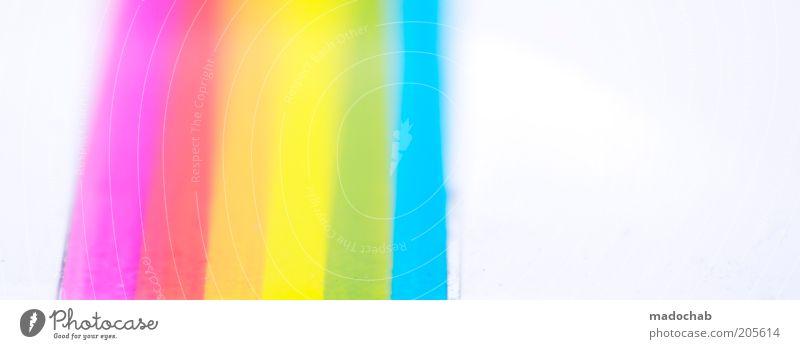 life is beautiful Stil Design ästhetisch Dekoration & Verzierung Streifen Symbole & Metaphern Regenbogen Experiment Licht abstrakt RGB spektral Farbton liniert